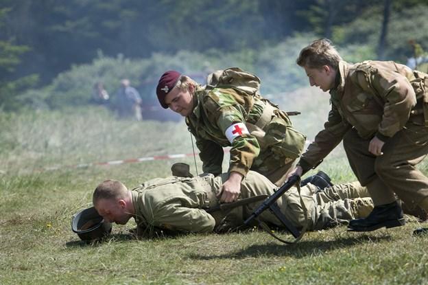 Under de to træf-dage vil reenactors spille både modstandsfolk samt allierede og tyske soldater - og vise deres udstyr frem.Arkivfoto: Bo Lehm