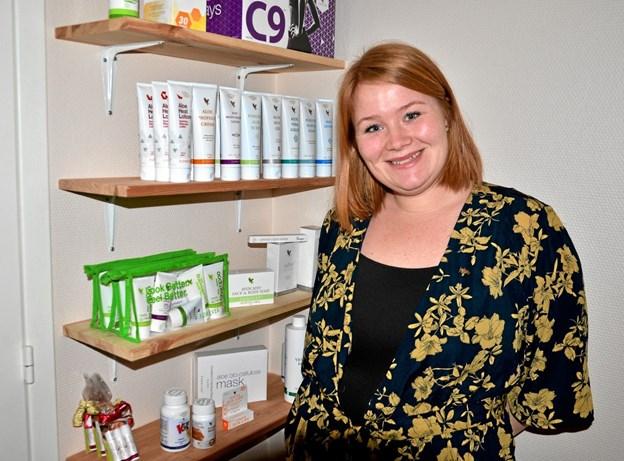 Maria har sin forretning hjemme i privaten i Rebild. Foto: Jesper Bøss