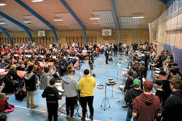 Gruppen med 'slagverk' holdt deres egen opførelse, som afsluttende del af seminaret. Foto: Tommy Thomsen Tommy Thomsen