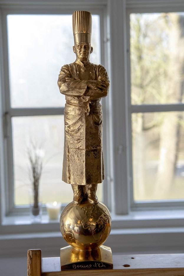 Den smukke statue, der til fulde viser, at Svinkløvs kok er en sand mester. Foto: Henrik Bo © Henrik Bo