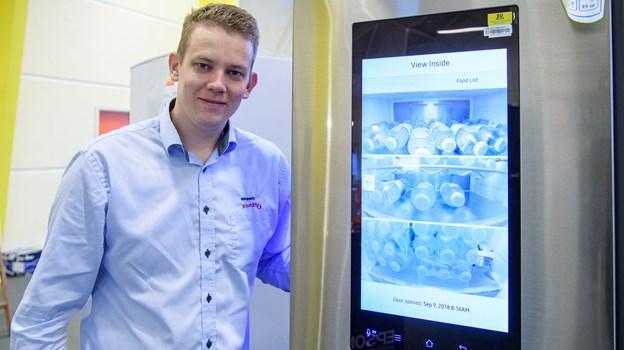 Michael Olsen vil på messen præsentere et køle-fryseskab, som er koblet op til internettet.