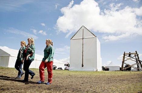 Landslejrens egen kirke.