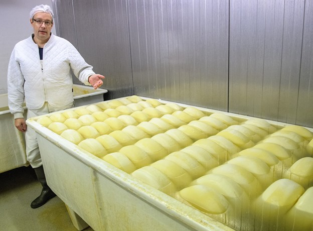 Mejerist Lars Erik Jensen er meget stolt over den internationale anerkendelse for osten. Foto: Peter Broen
