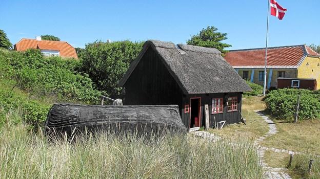 Den fattige fiskers hus på Svallerbakken kan ikke så nær rummme de mange medlemmer i Skagen Lokalhistoriske Forening, så sæsonstarten er henlagt til Kystmuseets café.   Foto: LOKALHISTORISK ARKIV SKAGEN