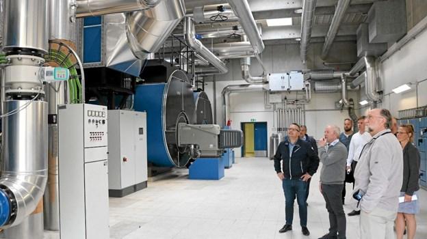 De store varmekedler der leverer varme til værkets 3.582 forbrugere Foto: Tommy Thomsen Tommy Thomsen