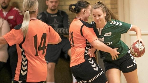 Serie 2-damerne hos Gandrup/Holtet vandt søndag 31-21 hjemme over Aalborg HK Star. Foto: Allan Mortensen