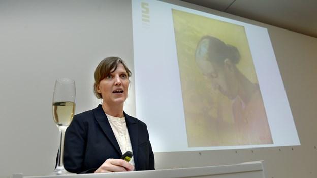 Museumsdirektør Lisette Vind Ebbesen giver en rundvisning i udstillingen, der samler nogle af Krøyers absolutte hovedværker