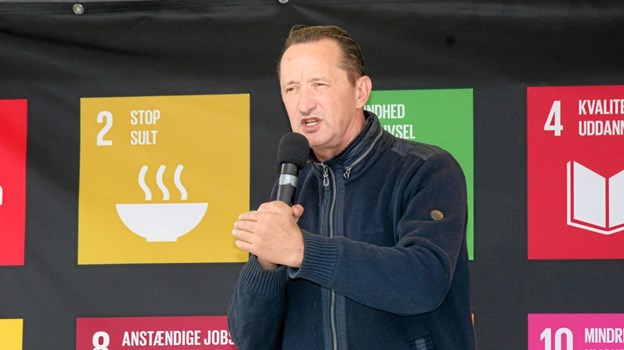 Jesper Skibby fortalte om sit liv og om det sunde liv i dag. Foto: Flemming Dahl Jensen