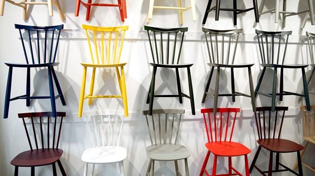 De ikoniske Poul Volther-stole har selvfølgelig fået deres helt egen væg. Foto: Lars Pauli