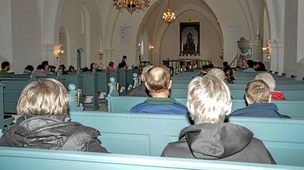 Stor opbakning om arrangementet sidst på eftermiddagen mandag i Overlade Kirke. Foto: Mogens Lynge Mogens Lynge