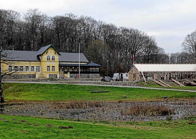 Den nye Stakladen vil indgår i smuk harmoni med Tolne Skovpavillon. Foto: Niels Helver Niels Helver