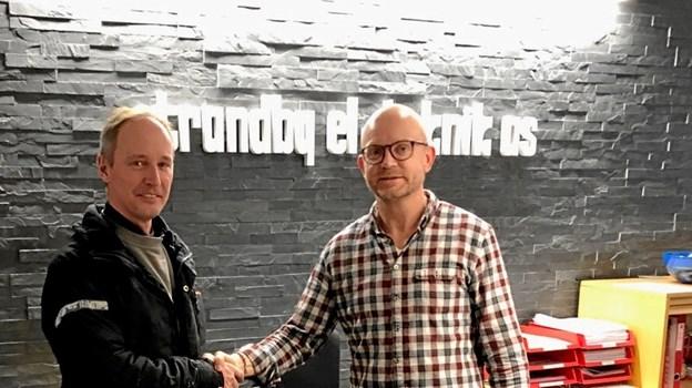 Pr. 1. januar 2019 har Jesper Bjerg Madsen valgt at sælge sin el-virksomhed til Strandby El-teknik, der dermed har fået separat afdeling i Hjørring.Privatfoto.