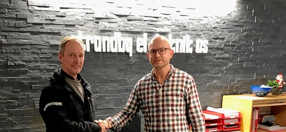 Pr. 1. januar 2019 har Jesper Bjerg Madsen valgt at sælge sin el-virksomhed til Strandby El-teknik, der hermed får separat afdeling i Hjørring.Privatfoto.