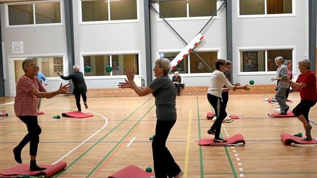 Træning af koordination og balance kan forebygge mange faldskader. Foto: Tommy Thomsen Tommy Thomsen
