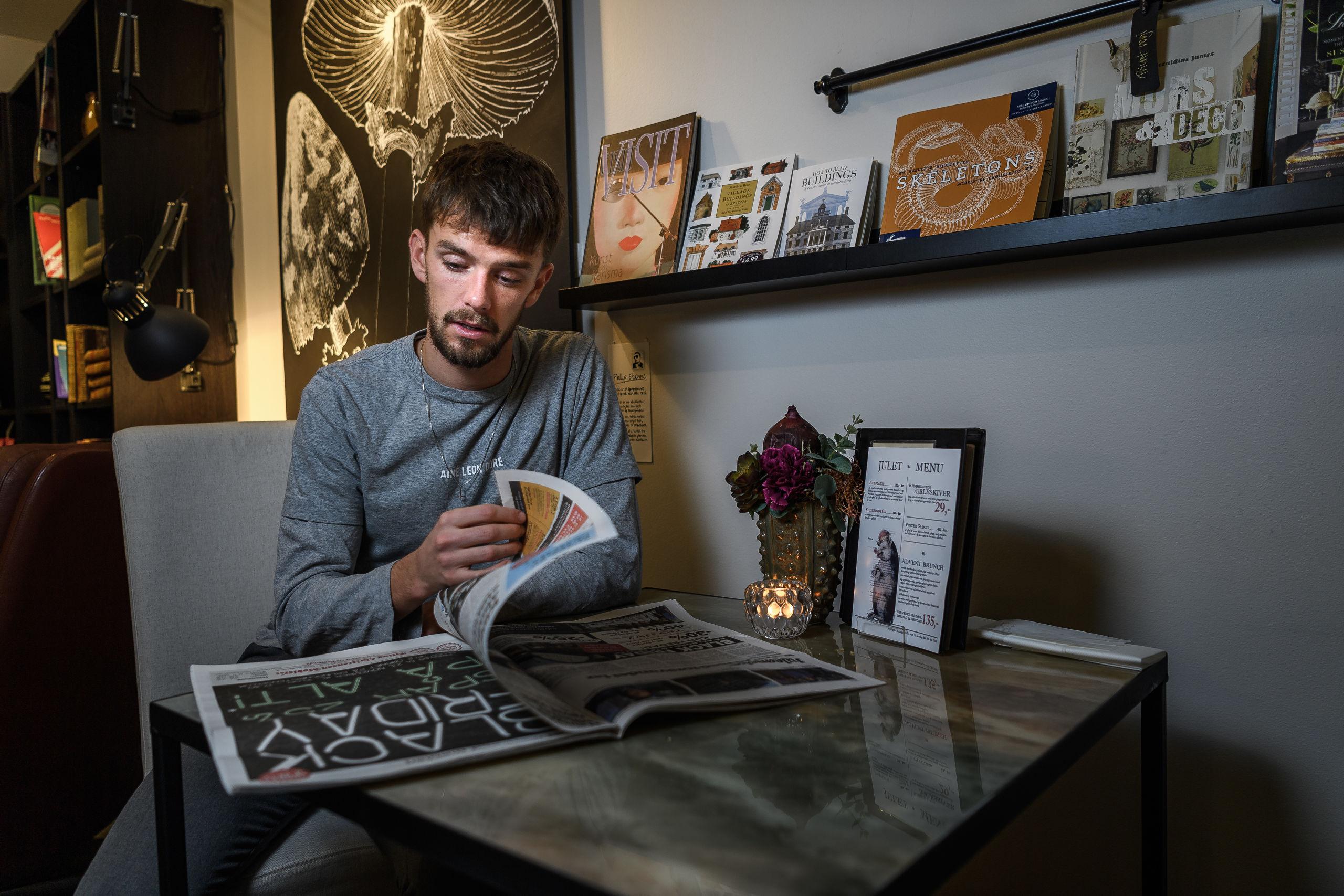 Lucas Andersen har det godt med at være vendt hjem, men han vil ikke udelukke, at han rejser til udlandet igen i fremtiden. Foto: Nicolas Cho Meier