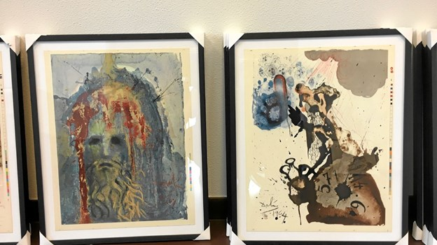 Også sjældne prøvetryk af Salvador Dalis bibel-illustrationer er at finde på udstillingen. Foto: PR - foto PR - foto
