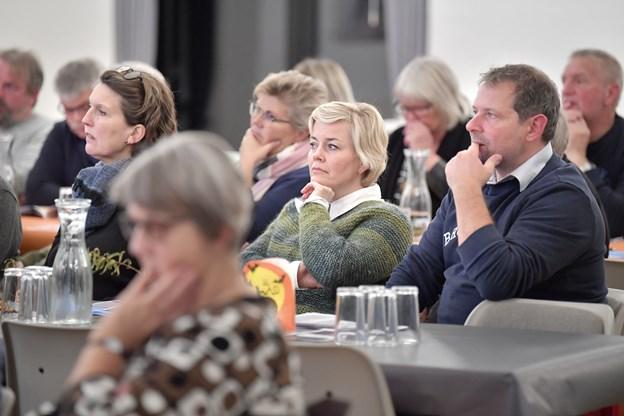 Omkring 65 mødet om til borgermødet om en visionsplan for Tversted.  Foto: Bente Poder