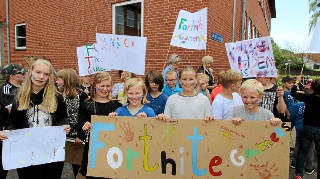 Der var stor opbakning fra det medlevende publikum til de forskellige hold, der deltog i dysten. Foto: Jørgen Ingvardsen Jørgen Ingvardsen