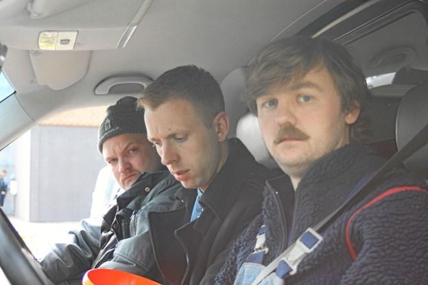 Jonas Mogensen (th.) har sammen med Kasper Gross (mf.) lavet sketchprogrammet 'Er vi der ikke snart?', der blev vist på TV 2 Zulu. Pressefoto