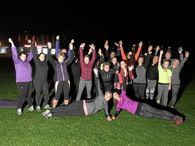Så er der atter Fitchallenge i Aabybro, hvor der trænes på græsplænen ved VUC & HF Nordjylland i Teknologiparken hver mandag og onsdag aften. Privatfoto