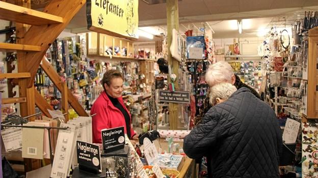 Fra Mus til Elefanter havde travlt i butikken. Foto: Hans B. Henriksen Hans B. Henriksen