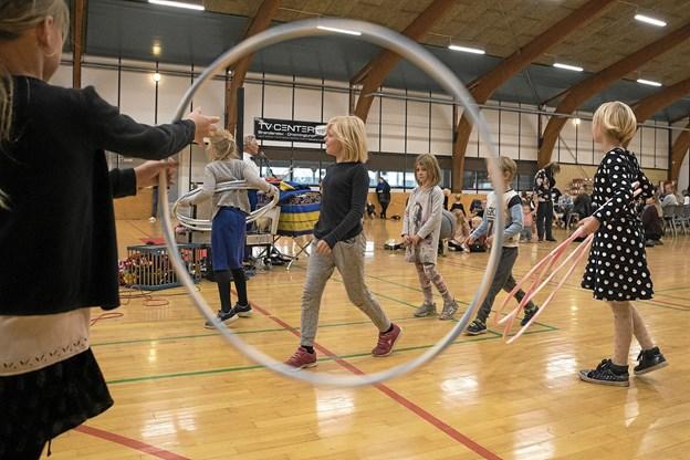 Ulsted Hallen dannede ramme om stor aktivitet for de yngste. Foto: Allan Mortensen