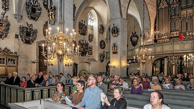 Gudstjeneste i Tallinns lutherske domkirke i forbindelse med overdragelse af et nyt Dannebrogsflag. Privatfoto