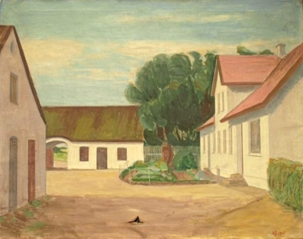 Knud Møller Andersens efterlysning i Vendelbo Posten bar frugt. Han har nu fået vished for, at kunstmaler Kristian Frederiksen har malet bedstefaderens gård - Søndergaard i Mosbjerg.