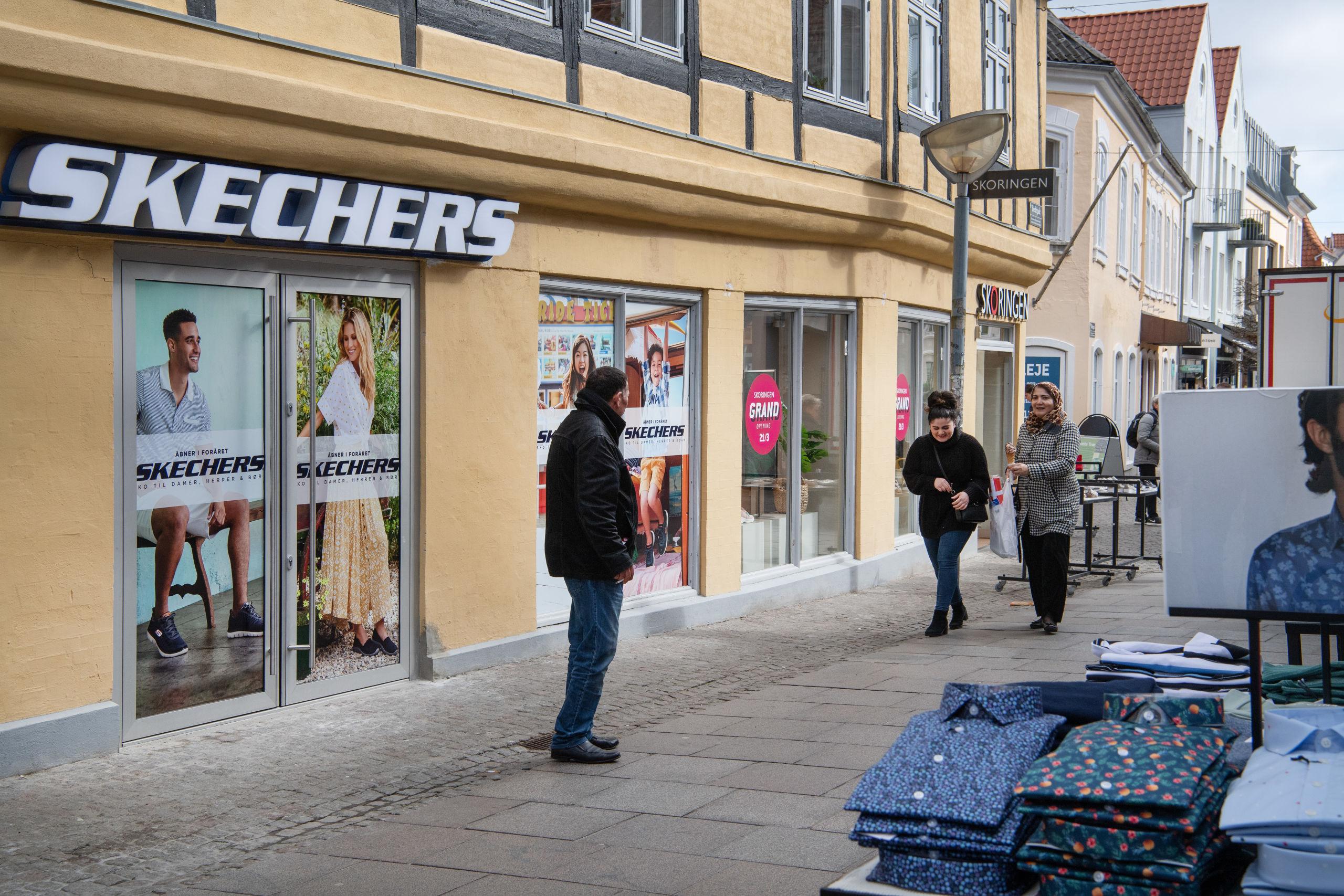 Skechers ligger her i Bredegade og er nabo til Skoringen, som Brian og Henriette Tøttrup også står bag. Foto: Hans Ravn