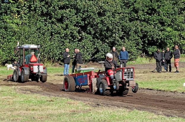 Samtidig med det store traktortræk blev Vendsyssel Mesterskabet i havetraktortræk afviklet. Foto: Niels Helver