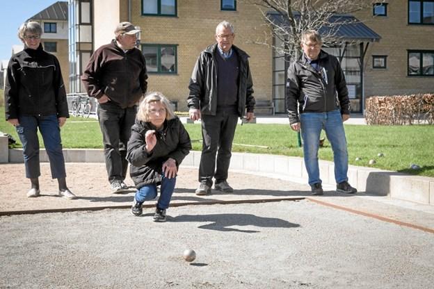 3. april begynder petanquesæsonen i Ældre Sagen, og i år er det 11. sæson, de tager hul på. Foto: Jørgen Anker