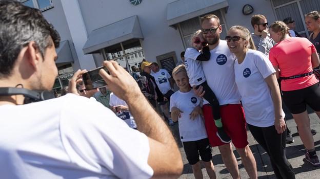 Deltagere i alle aldre deltog i løbet, hvor man kunne vælge imellem one mile, fem og ti kilometer. Foto: Lasse Sand