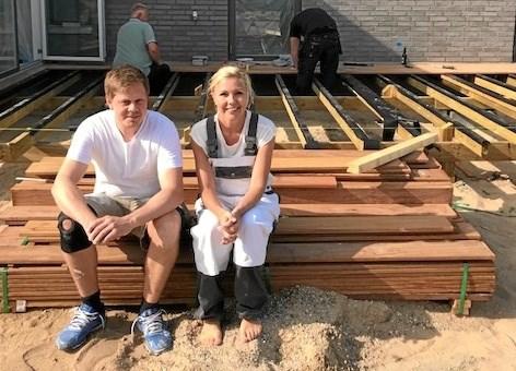 Katrine og Kenneth Johansen har fået god hjælp af familien. Foto Jesper Larsen