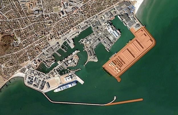 Der er grønt lys for etape 3 udvidelsen af Skagen Havn.Foto: Skagen Havn