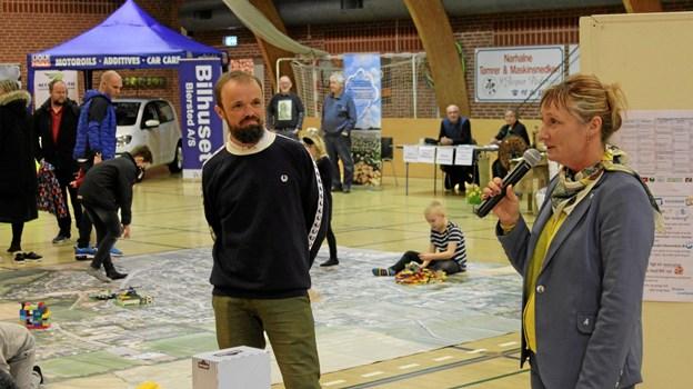 Helle Bak Andreasen glædede sig over det væld af aktiviteter, der var samlet til den lokale messedag. Privatfoto