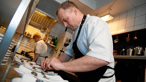 Der var koncentration under forberedelserne af de mange serveringer.