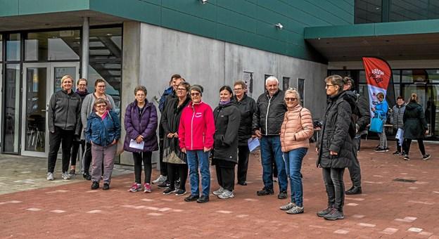 Deltagerne er klar til banko walk fra Lanternen. Foto: Mogens Lynge