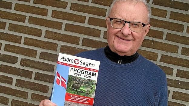 Formand for Ældre Sagen Chr. Baun, Hurup er glad for at det nye katalog for 2019 og 2020 nu er færdig. Privatfoto
