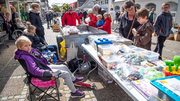 Markedsstemning i Hurups gågade. Foto: Diana Holm