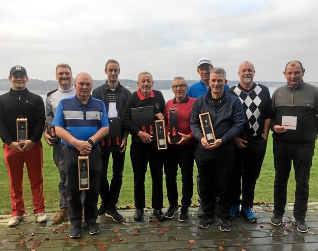 Vinderne i årets julematch hos Mariagerfjord Golfklub. Foto: Privat.