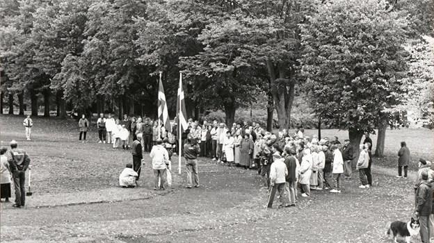 Indvielse af Rosenhaven i Botanisk Have den 25. september 1993