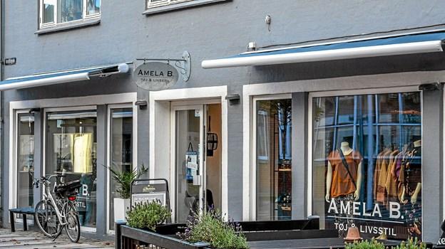 Butikken i Østerbrogade, som Amela overtog tidligere i år. Foto: Mogens Lynge