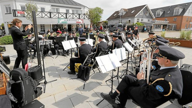 Aalborg Jernbaneorkester leverede den musikalske underholdning. Foto: Allan Mortensen Allan Mortensen