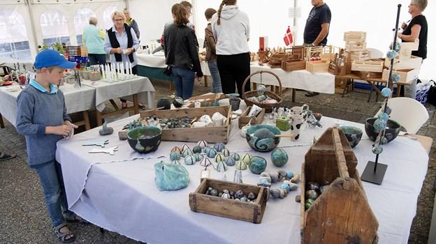 Kunsthåndværkermarkedet i juli fandt sted i Hurup.Foto: Peter Mørk