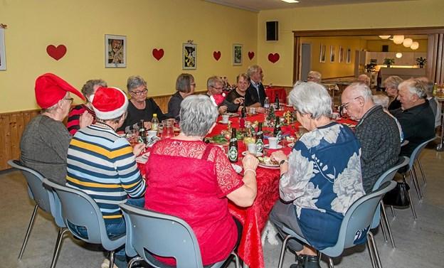 Julefrokost i torsdags cafè i Ældre Sagen i Løgstør. Foto: Mogens Lynge Mogens Lynge