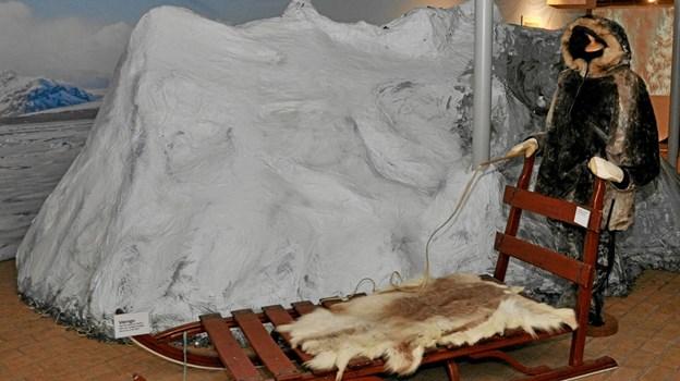 Der er virkeligt gjort noget ud af udstillingen på Dorf Møllegård, og man får et godt indtryk af forbindelsen mellem Østvendsyssel og Vestgrønland ved at gå den igennem. Foto: Ole Torp