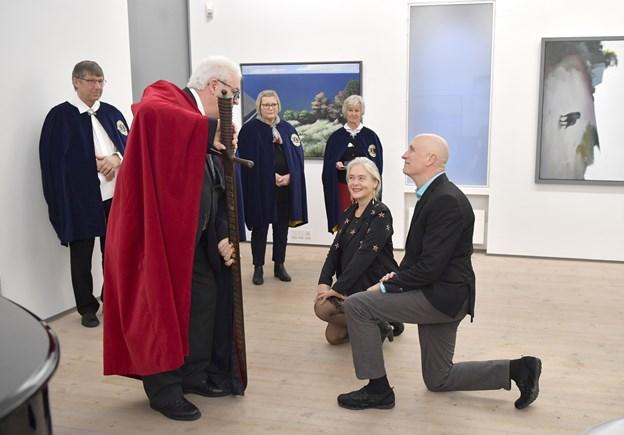 Det var 53. gang, lauget slog borgere til riddere af Skipper Clements Sværd.   Foto: Bente Poder