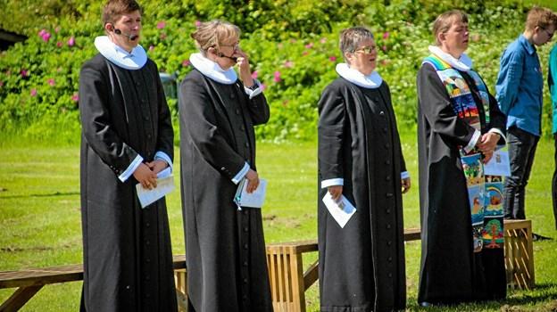 Pinsegudstjenesten 2019 var et samarbejde mellem 13 præster. Foto: Hans B. Henriksen Ole Iversen