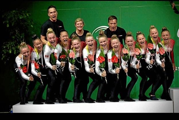 De danske medaljepiger. Privatfoto