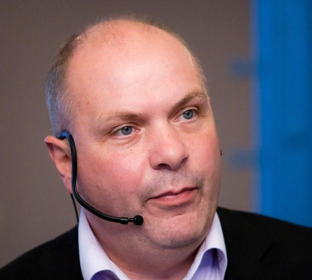 EU-parlamentskandidat Søren Gade - taler om Europa-politik i Haverslev.  Arkivfoto